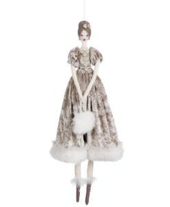 Decoro Damigella Velvet Ballerina Romantic Ballet Blanc Mariclo Beige