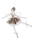 Decoro Velvet Ballerina Romantic Ballet Blanc Mariclo Beige