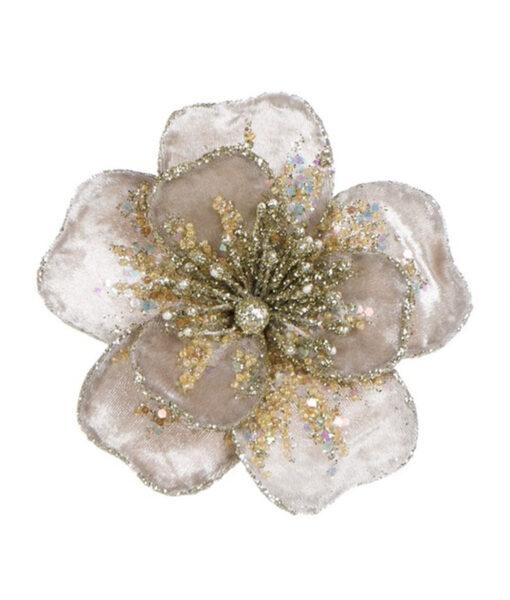 Decoro floreale con clip Velvet Ballerina Romantic Ballet Blanc Mariclo Beige
