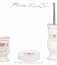 Set bagno 3 pezzi in box Blanc Mariclo Parfum de Roses Collection