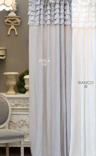Tenda Blanc Mariclo Bianca con gale Eterna Collection 150×290 cm A2721599BI