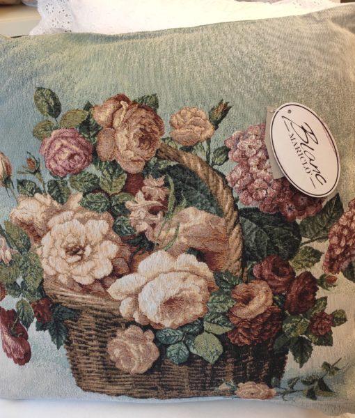 Cuscini Con Rose.Cuscino Blanc Mariclo Cesta Con Rose Gobelin Collection Blanc