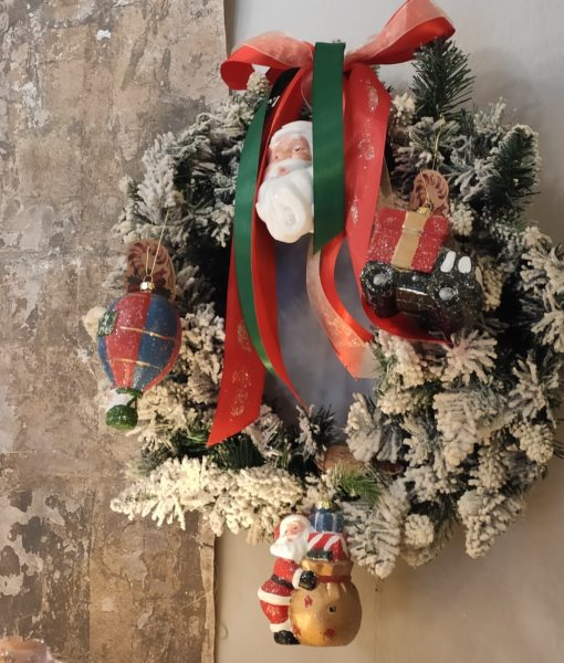 Set 4 decorazioni assortite Blanc Mariclo