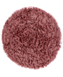 Cuscino tondo con ruches rosa Blanc Mariclo Deco Rose