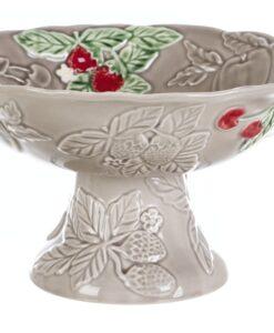 Coppa frutta con piede Blanc Mariclo Sentimento Collection