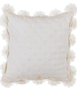 Cuscino con gala Blanc Mariclo Salomè panna A2875899PA