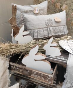 Set 3 decori coniglietti Blanc Mariclo Easter Fantasy