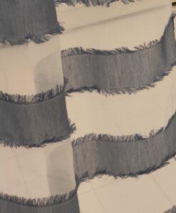 Tenda a righe Blanc Mariclo Positano colore Denim