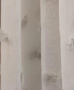 Tenda Blanc Mariclo pom pom grigi Danza