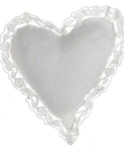 Cuscino cuore con pizzo Blanc Mariclo Buttercup Collection
