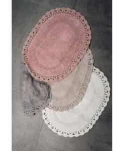 Tappeto ovale con crochet Blanc Mariclò Bolshoi Collection