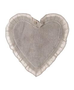Tappeto cuore con frills Blanc Mariclò Beige