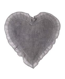 Tappeto cuore con frills Blanc Mariclò Grigio