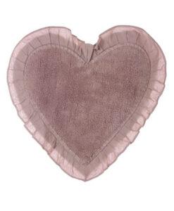 Tappeto cuore con frill Blanc Mariclò A28364