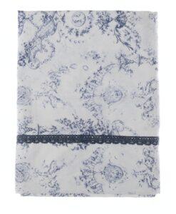 Copriletto Queen Mary Blanc Mariclo Blu