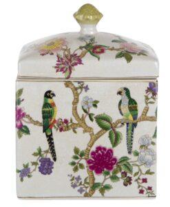 Vaso decorativo c/coperchio Blanc Mariclo Kreisleriana Collection