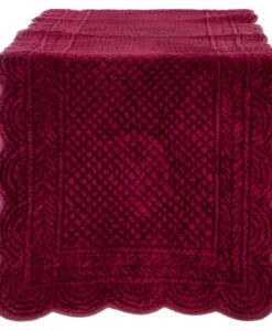 Runner Blanc Mariclo Velvet Carmen Collection Bordeaux