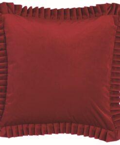Cuscino con gala Blanc Mariclo Le Chic Collection 50x50 cm Rosso