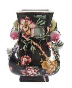 Vaso decorativo Blanc Mariclo Kreisleriana Collection Nero