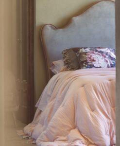 Trapunta Blanc Mariclo matrimoniale Loving con gale 350 gsm rosa polvere