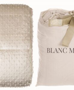 Plaid Blanc Mariclo Bubble Collection 200 x 240 cm Beige chiaro