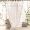 Tenda ricamo Blanc Mariclo Small King Collection 140x290 cm