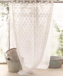 Tenda ricamo Blanc Mariclo Small King Collection 140x290 cm