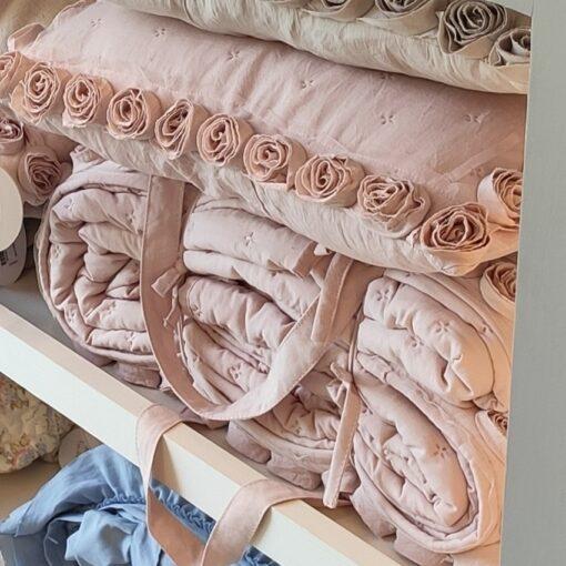 Boutis matrimoniale Blanc Mariclo Petite Rose Collection Rosa