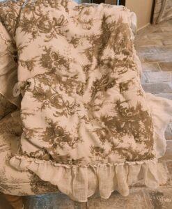 Trapuntino velluto con gale Blanc Mariclo Grimaldi Collection