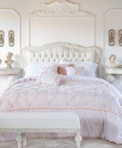 Trapunta Blanc Mariclo matrimoniale Dream Rosa con 2 federe e 3 cuscini arredo