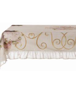 Tovaglia con gala Blanc Mariclo Gate Collection 150x280 cm