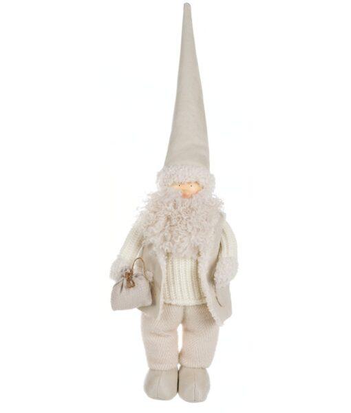 Decoro Santa Claus Blanc Mariclo Notte Silente Collection h 61 cm A29695