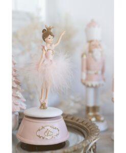 Decoro ballerina con carillon Blanc Mariclo Ballerina Collection h 21 cm