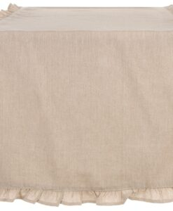 Runner beige con galetta Blanc Mariclo 45x140 cm Infinity Collection