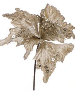 Decoro floreale Velvet Ballerina Blanc Mariclo Oro