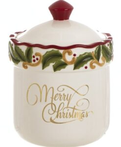 Barattolo con coperchio Blanc Mariclo Merry Christmas Collection