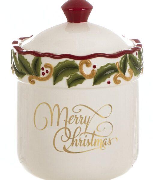 Barattolo con coperchio Blanc Mariclo Merry Christmas CollectionA27881