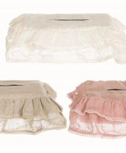 Copri scatola fazzoletti lino Blanc Mariclo
