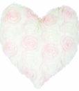 Cuscino cuore pile rose Blanc Mariclo