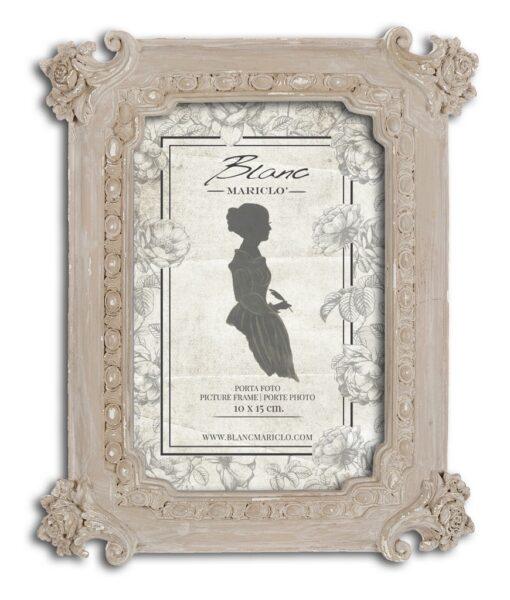 Porta foto Blanc Mariclò Dame e Roseti Collection H 19,8 cm A29622