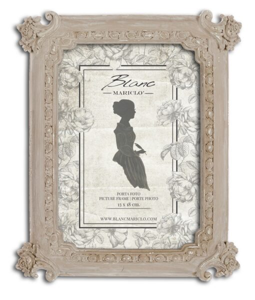 Porta foto Blanc Mariclò Dame e Roseti Collection H 22,5 cm A29623