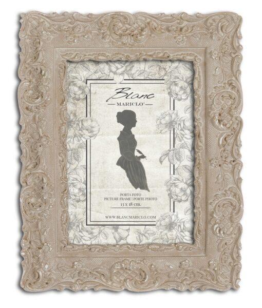 Porta foto Blanc Mariclò Dame e Roseti Collection H 24,8 cm A29632