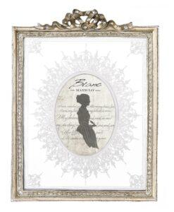 Porta foto dorato Blanc Mariclò Dame e Roseti Collection H 30,5 cm