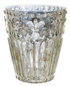 Vaso porta candela Blanc Mariclò L'antica Vetreria