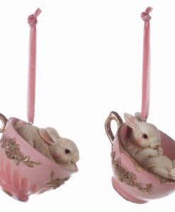 Decoro coniglietto tazzina Blanc Mariclo Il sogno di Clara Collection