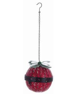 Decoro campana sfera Blanc Mariclo Christmas Retro H 22,5 cm