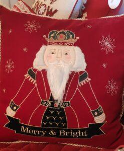 Cuscino Blanc Mariclo Happy Holidays schiaccianoci