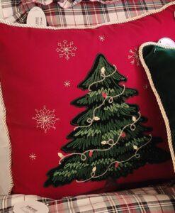 Cuscino Blanc Mariclo Happy Holidays albero di Natale