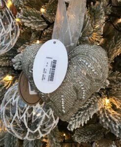Decoro cuore perline Blanc Mariclo Collection argento
