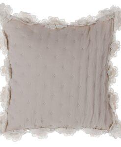 Cuscino con roselline Blanc Mariclo Salomè beige